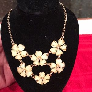 The Limited fashion necklace. Glass flowers